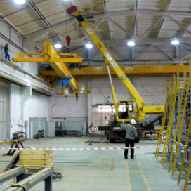 Installation and dismantling of cranes
